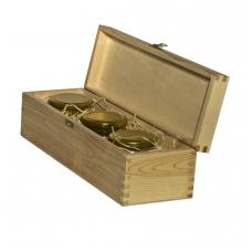 Bičių produktų rinkinys medinėje dėžutėje su sagtele