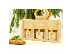 Bee products in jute bag (3 jars)