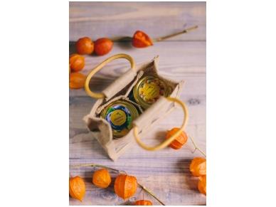 Bee products in jute bag (2 jars) 2
