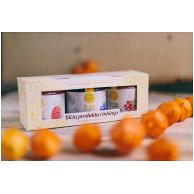 Bičių produktų rinkinys popierinėje dėžutėje (3 x 200 g)