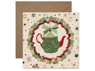 "Christmas postcard ""A teapot"""
