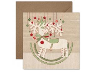 "Christmas postcard ""A deer"""