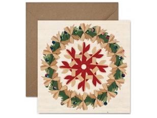 """Christmas postcard """"A snowflake"""""""