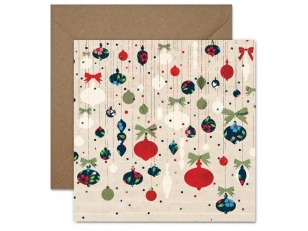 "Christmas postcard ""Cristmas tree decorations"""