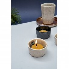 Keraminė žvakidė (kreminės sp.)