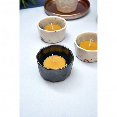 Keraminė žvakidė (juodos sp.)