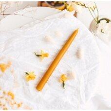 Krikšto žvakė iš natūralaus bičių vaško (33,5 x 2,1 cm)