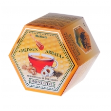 Medaus arbata su bičių pikiu ir žolelėmis (imunitetui)