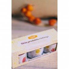 """Medaus arbatų rinkinys dovanų dėžutėje """"Apiflorus"""" (4 vnt. x 30 g)"""