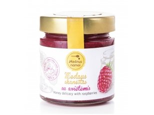 Honey with raspberries, 200 g