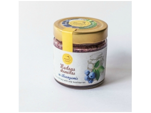 Honey with bilberries, 200 g