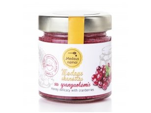 Honey with cranberries, 200 g