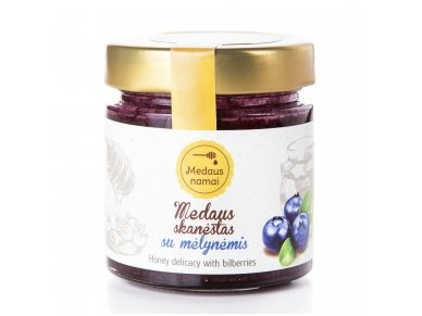 Honey with blueberries, 200 g