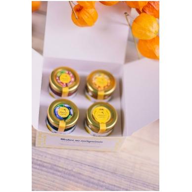 Medaus produktų rinkinys dovanų dėžutėje (4 x 50 g) 3