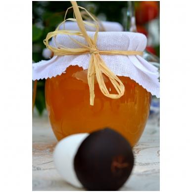 Medus, papuoštas drobe ir šiaudu, 700 g